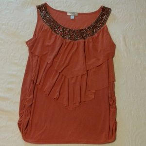 DRESS BARN Beaded Tunic / top size 14 / 16